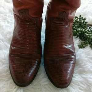 VTG Justin lizard  leather western boots size 6B
